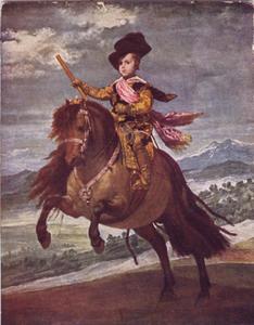 Prins Baltasar Carlos te paard