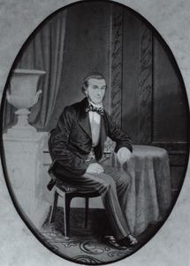 Portret van Johannes Marinus Nell (1822-1875)