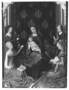 Maria met kind en vrouwelijke heiligen