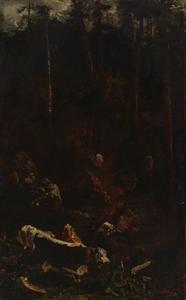 De afdaling van het rundvee in het Hoog Jura gebergte