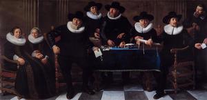 Vijf regenten en twee regentessen van het Oudemannen- en Vrouwengasthuis, Amsterdam