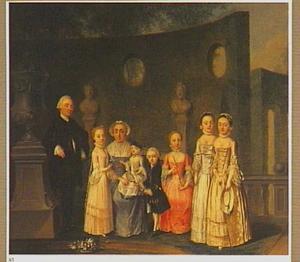 Familieportret op en terras