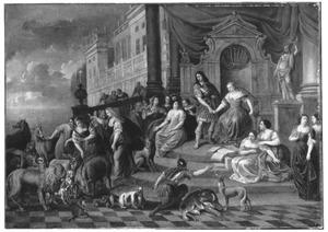 Circe verandert de metgezellen van Picus in verschillende wilde dieren, omdat ze haar bedreigd hebben (Ovidius, Metamorfoses, 14:412)