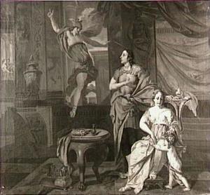 Odysseus beveelt Calypso om Odysseus te laten gaan