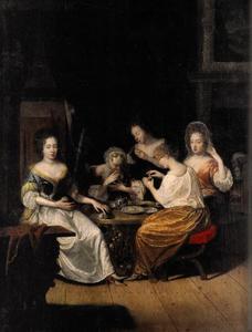 Familieportret van Elisabeth Albertine (1665-1706), Henriette Amalia (1666-1726), Marie Eleonore (1671-1756), Johanna Charlotte (1682-1750) en Henriette Agnes (1674-1729) van Anhalt-Dessau