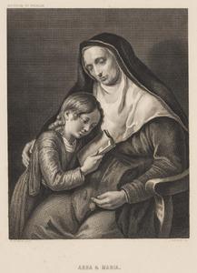 De profetes Hanna onderwijst een kind (Samuel?)