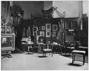 """Het atelier van B.J. Blommers in 'Villa Johanna"""""""