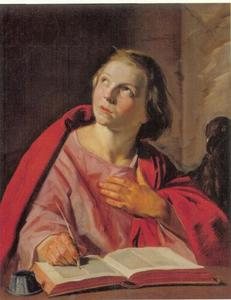 Johannes de Evangelist schrijvend