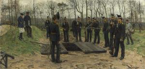 De begrafenis van de Jager