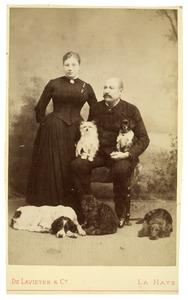 Portret van Sophia Susanna de Lavieter (1844-1928) en Francois Joseph Cuissinier (1840-1903)