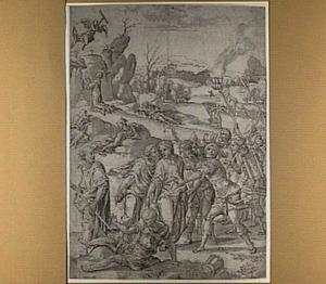 Christus in de hof van olijven (Mattheüs 26:36-45); De Judaskus (Mattheüs 26:46-49); De gevangenneming van Christus (Mattheüs 26:47-56)
