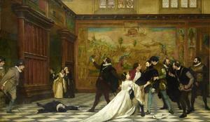 De moordpoging op Willem van Oranje door Jean Jaureguy in Antwerpen, op 18 maart 1582