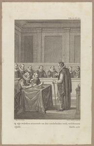 Johan van Oldenbarnevelt (1547-1619) voor zijn rechters