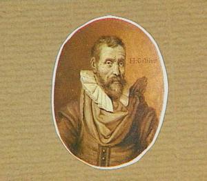 Portretminiatuur van de kunstenaar Karel van Mander I (1548-1606)