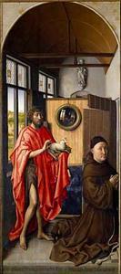 De H. Johannes de Doper met Heinrich von Werl (gest. 1463)