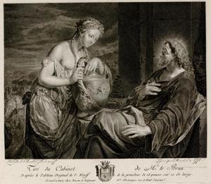 Christus en de Samaritaanse vrouw bij de bron