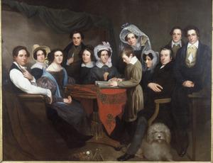 Zelfportret met familie