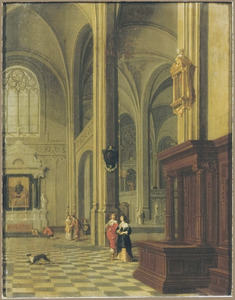 Gotisch kerkinterieur