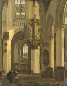 Kerkinterieur met motieven van de Oude en Nieuwe Kerk in Amsterdam