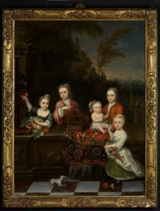 Groepsportret van de vijf oudste kinderen van Cornelis Ketelaar (Keetlaer) (1690-1764) en Catharina Maria Clement (1694-1738)