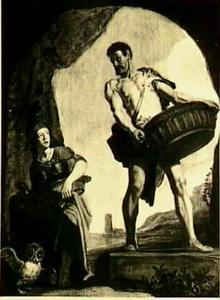 Athena en Odysseus