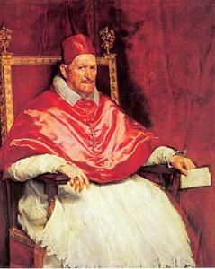 Portret van paus Innocentius X (1574-1655)