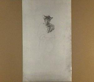 Staande man met stok en hoed