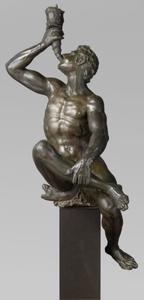Triton, blazend op een kinkhoorn