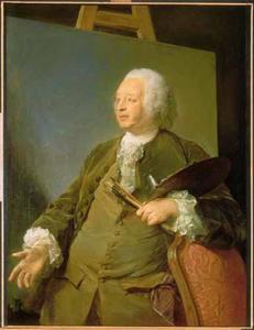 Portret van de schilder Jean-Baptiste Oudry (1686-1755)