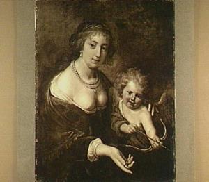 Marie de Rohan als Venus met Amor