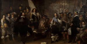 Schutters van de compagnie van kapitein Joan Huydecoper (1599-1661) en luitenant Frans Oetgens van Waveren (1619-1659) bij het sluiten van de Vrede van Munster