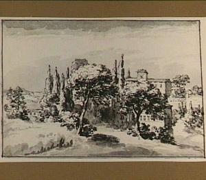 Landschap met Italiaanse bebouwing