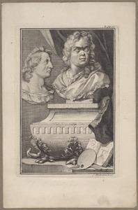 Portretten van Gerard de Lairesse (1641-1711) en Bertholet Flémalle (1614-1675)