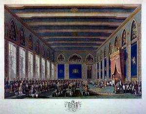 Eerste bijeenkomst der Staten-Generaal door koning Willem I te Brussel geopend op 21 september 1815