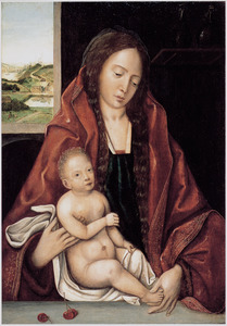 Maria met kind in een interieur