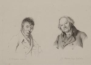 Portretten van Daniël Dupré (1751-1817) en Christiaan Welmeer (1742-1814)