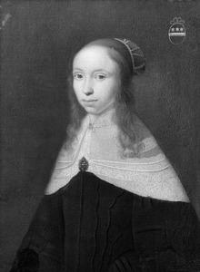 Portret van een jonge vrouw, mogelijk uit de familie Van Borssele van der Hooghe