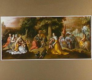 De verzoening van Jacob en Esau (Genesis 33:3-4)