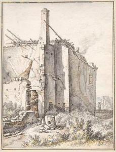 Ruïne van het huis Soestbergen bij Utrecht in 1674