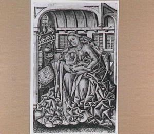 Maria met kind in een huiselijk interieur