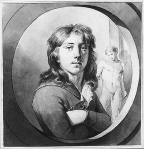 Zelfportret van de kunstenaar Nicolaus Ritter Jr. (1777 - na 1797)