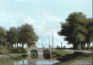 De sluizen van de Nederwaard bij Elshout