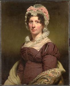 Portret van een vrouw, mogelijk de echtgenote van J.W. Beyen