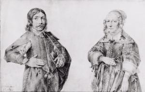 Portret van een man en een vrouw, de twee kinderen van Roeland Govertsz. van Haften (...-...) en Johanna Roch (...-...)