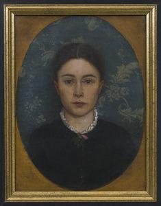Portret van een Wilhelmina Cornelia  Pet-Meiners (1856-?) op 26-jarige leeftijd, zus van de schilder