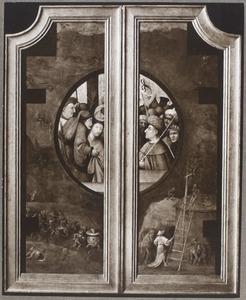 Christus voor Pilatus, omgeven door voorstellingen uit de hel
