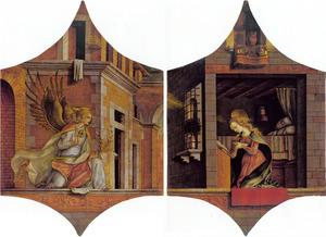 De Annunciatie: Gabriël (links); Maria (rechts)