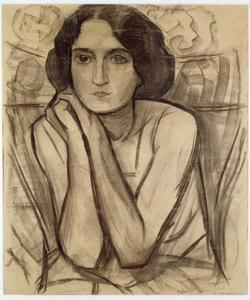 Portret van waarschijnlijk Eva Bernardine de Beneditty (1888-1969)