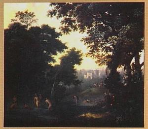 Boslandschap met Diana en Actaeon