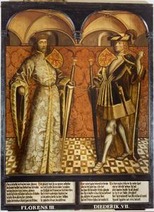 Haarlemse gravenportretten: Florens III en Diederik VII